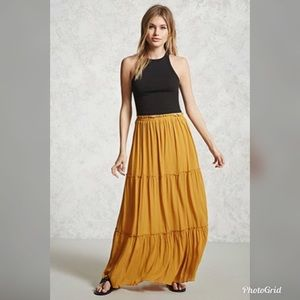 NWT!!! Forever 21 Tiered Maxi Skirt!!!